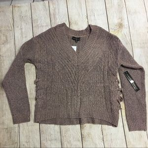 Almost Famous Long Sleeved Cropped Sweater Size M